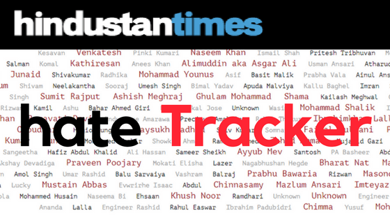 Hate Tracker: a database of identity based hate crimes in India by Hindustan Times