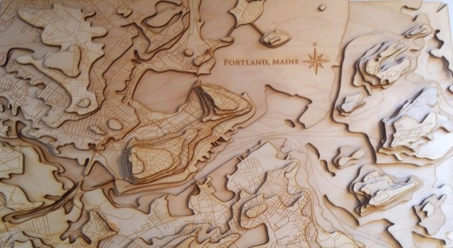 Wood Elevation Maps : Making a laser cut topo map the build phase sham