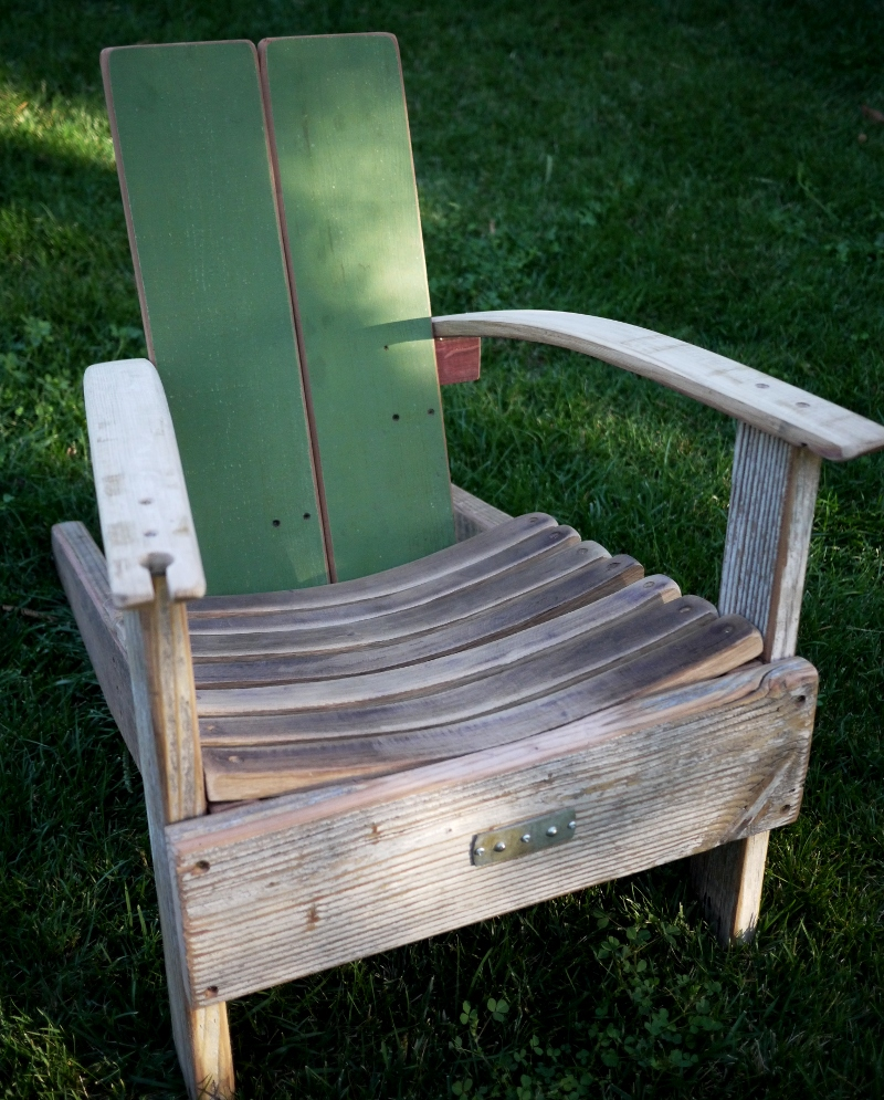 Wine Barrel Rocking Chair