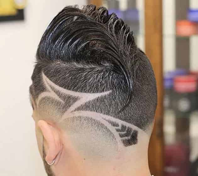 curved edge mohawk hairstyle