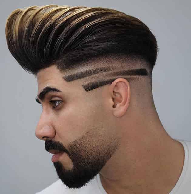 Fade beard with Pomp