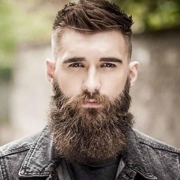 Full Beard with Fade and Medium Hair
