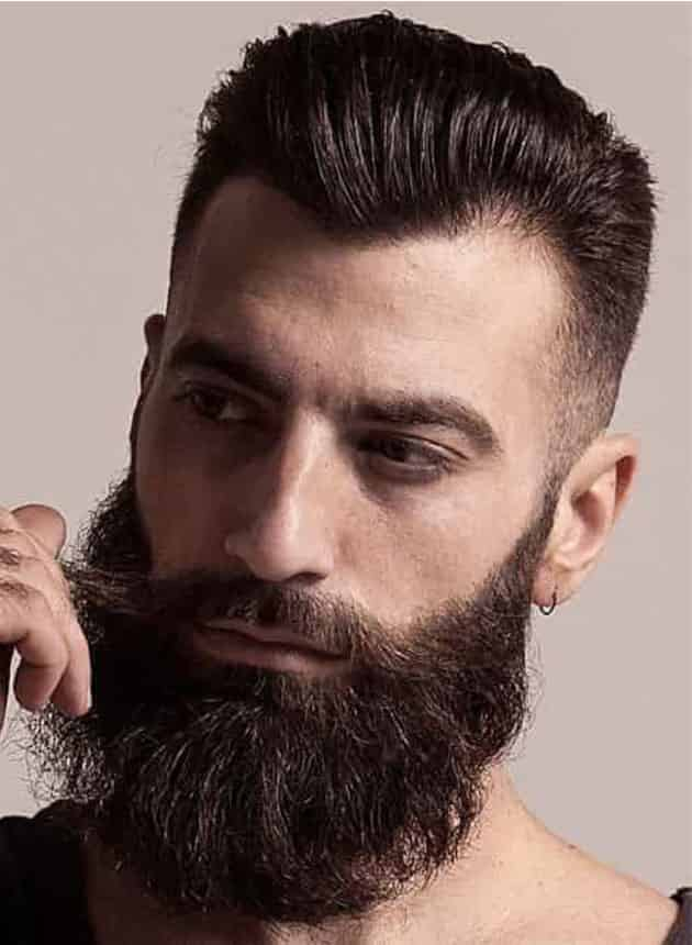 Full Extended Jaw Beard with Fade Hair