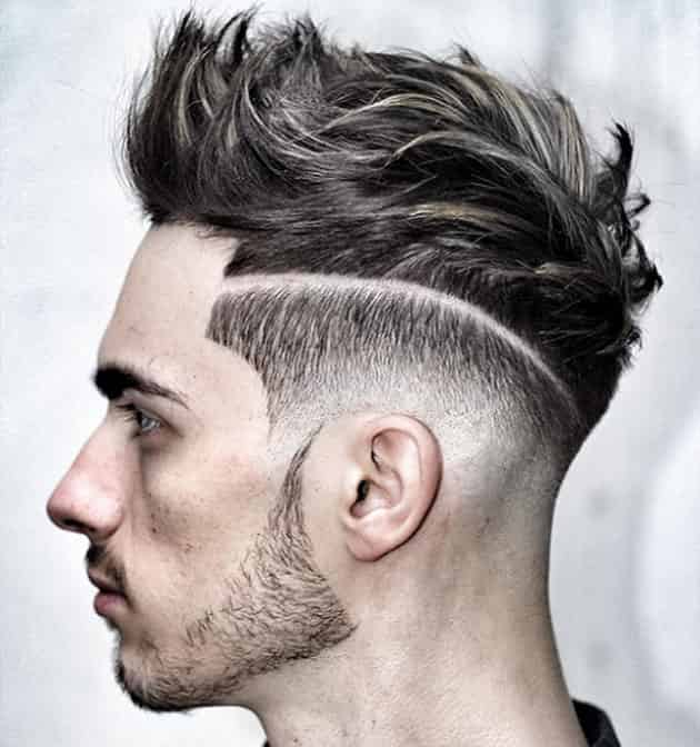 Messy Pomp Hairstyle with Sheer