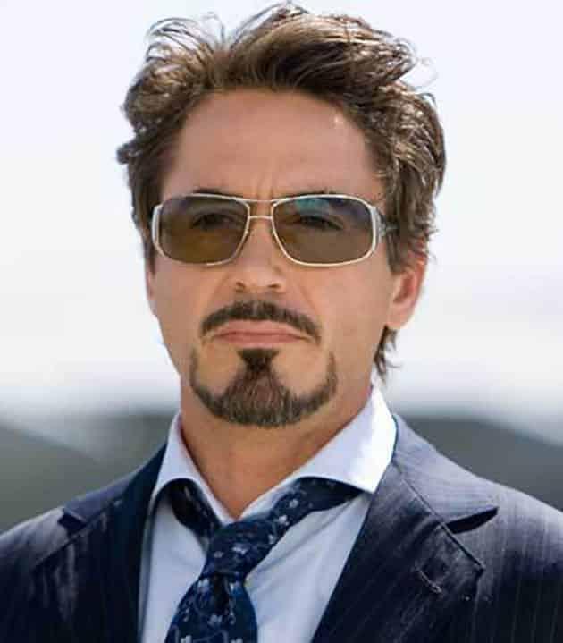 Tony Stark with Clean Jaw beard