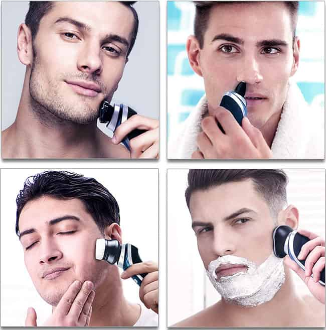 hatteker electric shaver, shaving performance