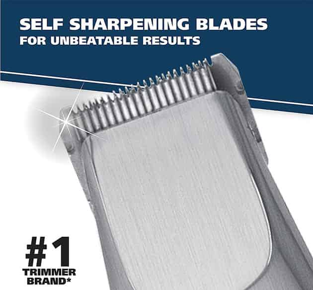 best beard trimmer self-sharpening blades