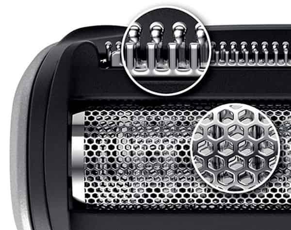 Philips bodygroom series 7000 foil block technology
