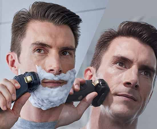 Wet dry shave