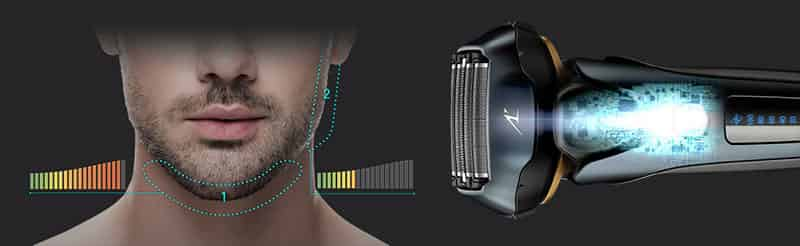 Panasonic intelligent shave sensor