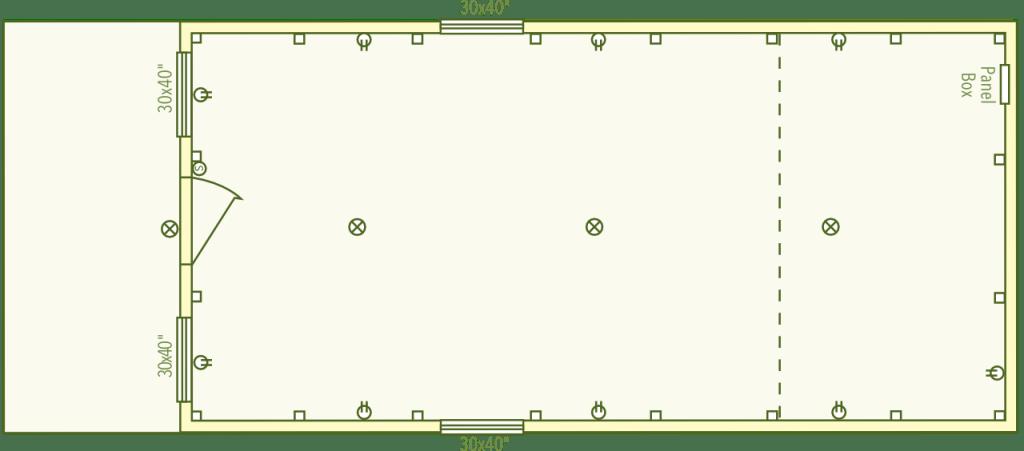 Dearborn Cabin Floor Plan