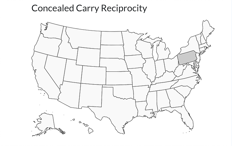 Concealed Carry Reciprocation Map