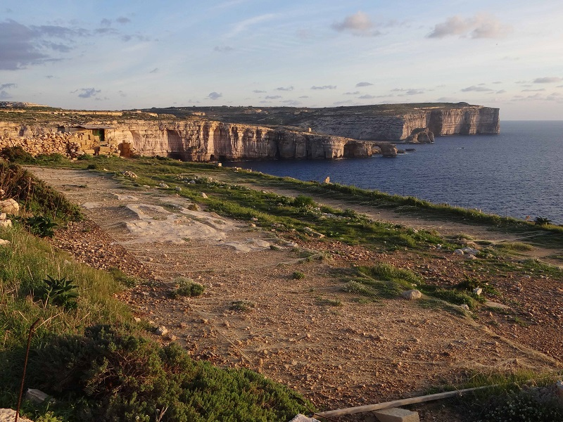 Trapping site in Gozo .