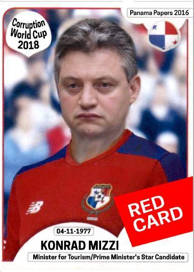 Konrad red card