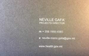 Neville Gafa fake business card