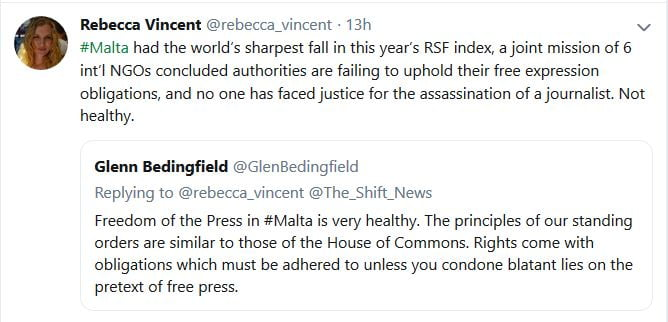 RSF reply Glenn Bedingfield