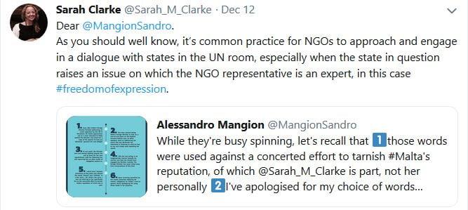 Sarah Clarke Sandro Mangion