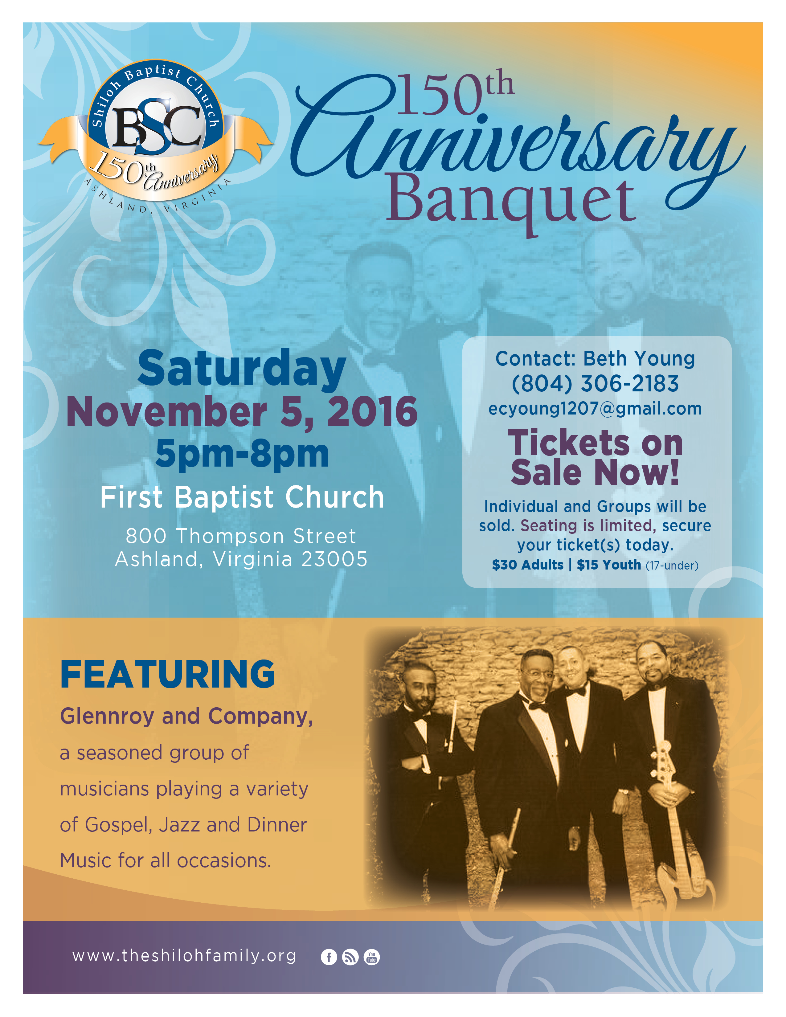 sbc 150th anniv banquet flyer