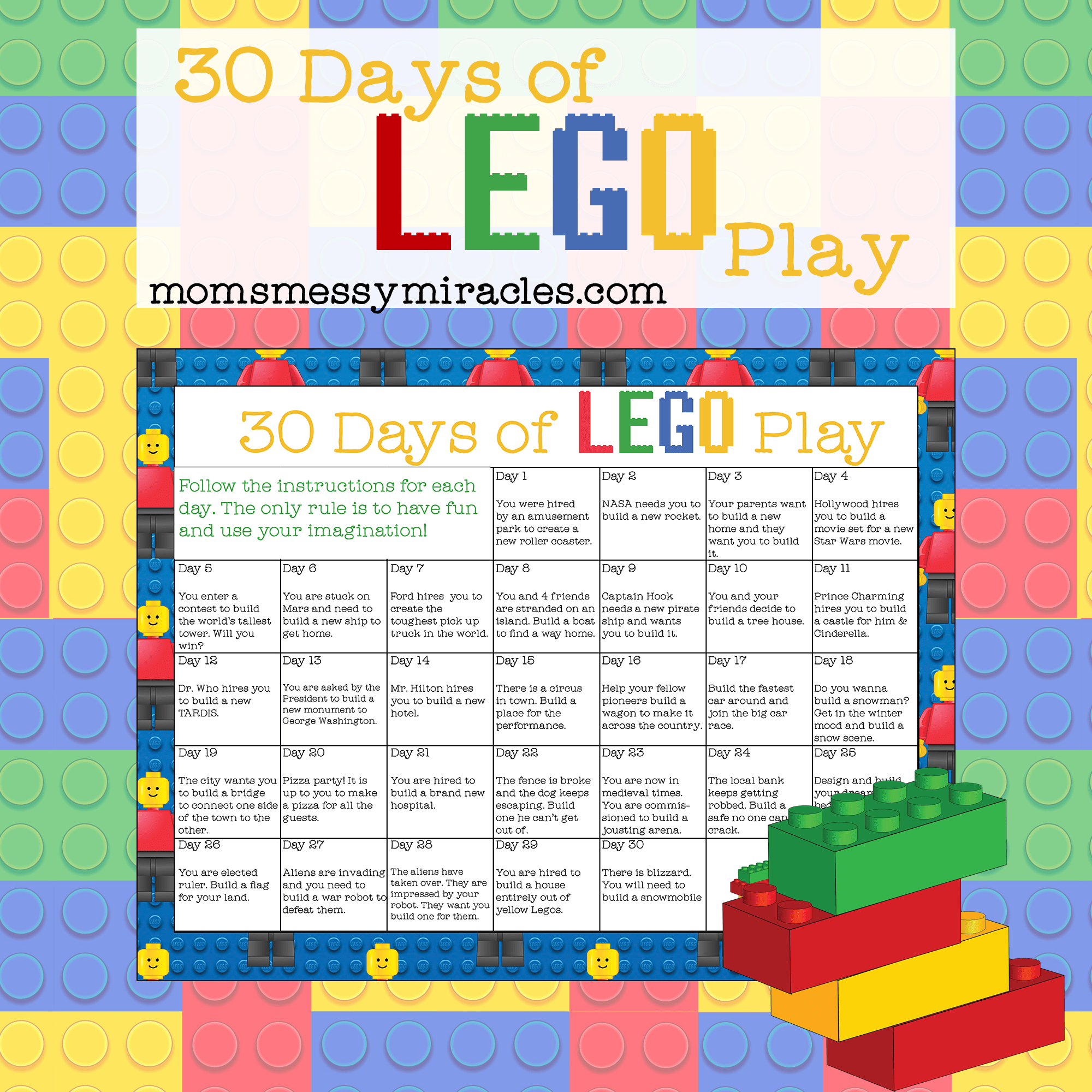30 Days Of Lego Play
