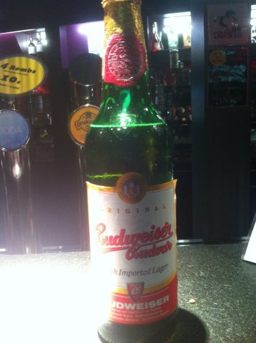 My first Budweiser Budvar beer back in 2011.