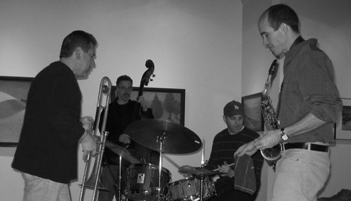 Rob Brown | Steve Swell | Joe Morris | Luther Gray | Rob Brown Quartet | Radiant Pools | rogueart jazz