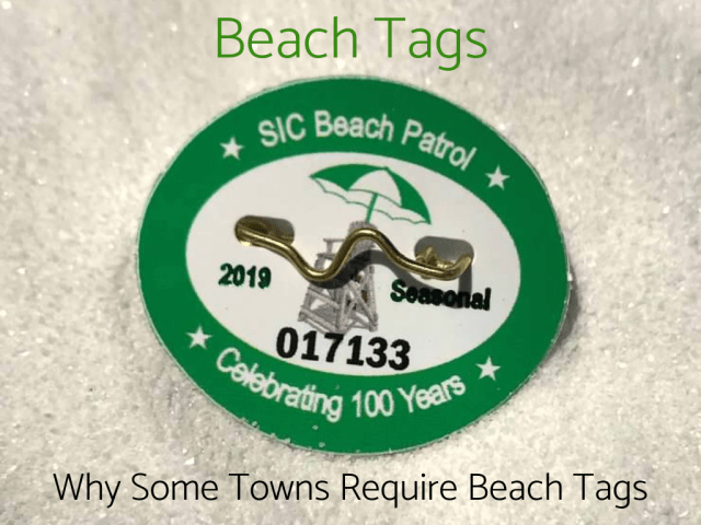 Beach tags, why are beach tags required, beach tag information, where to buy beach tags