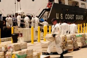 US Coast Guard on a drug bust