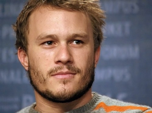 Heath Ledger before he died from addiction