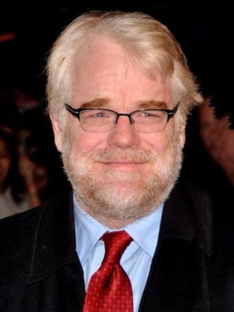 Philip Seymour Hoffman before he died from drug addiction.