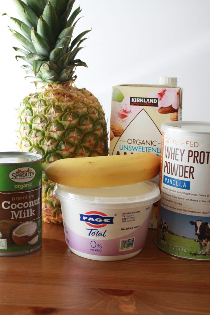 Pineapple Banana Protein Smoothie Ingredients