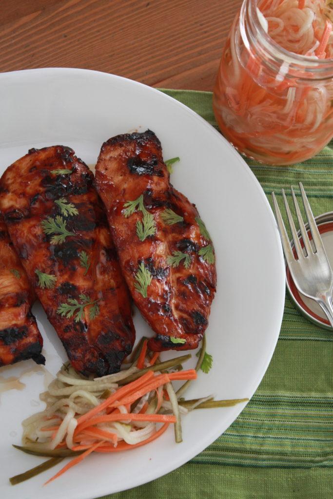 Vietnamese Grilled Chicken Breast & Pickled Vegetables