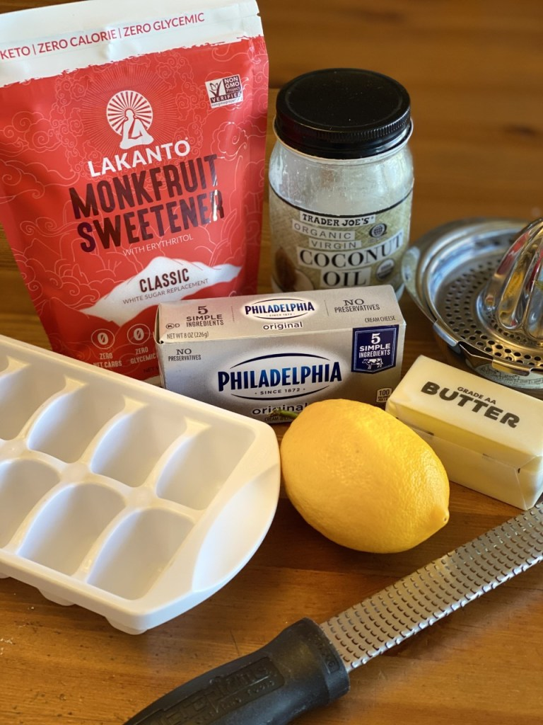 No Bake Lemon Cheesecake Fat Bomb ingredients