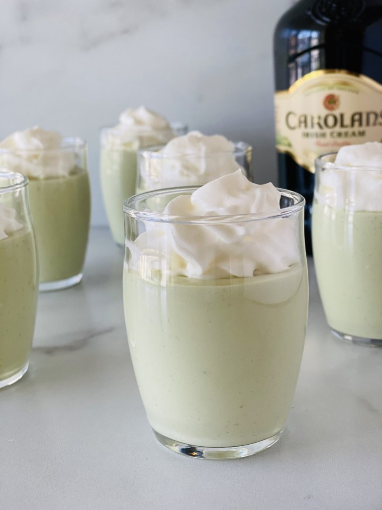St Patricks' Day Pudding Shots
