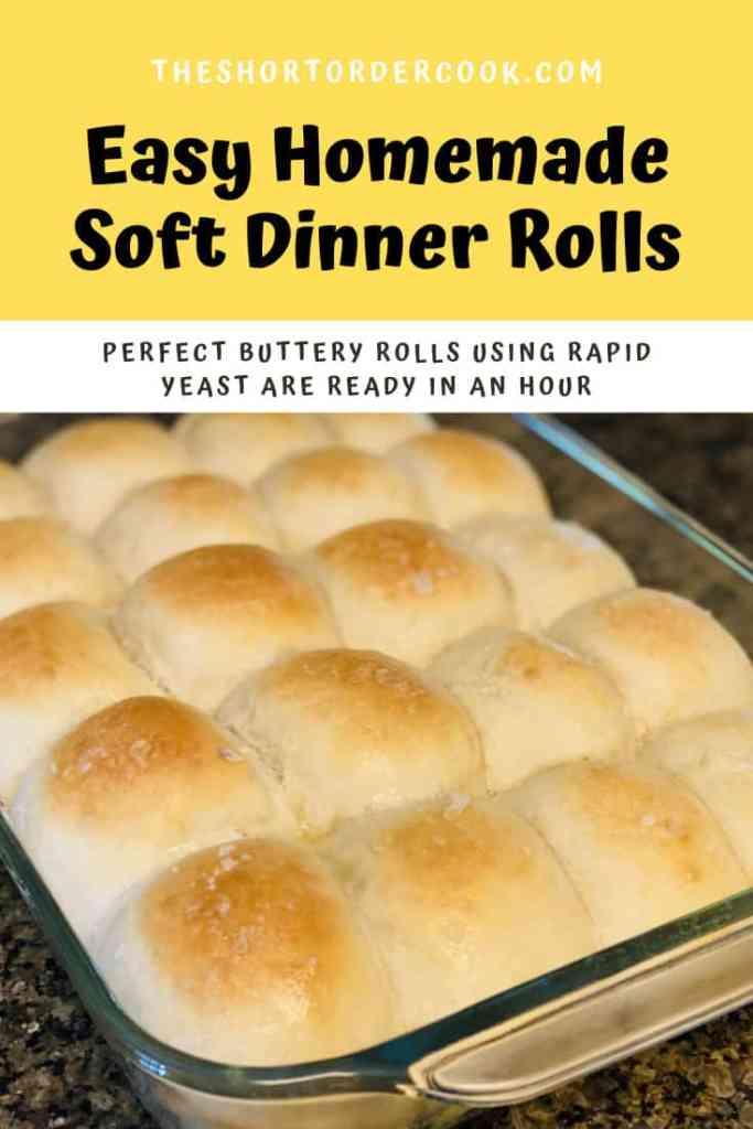 Easy Homemade Soft Dinner Rolls PIN