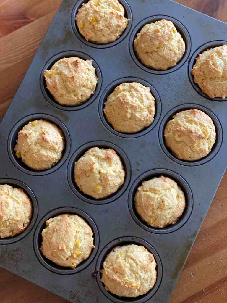 Cornbread Muffins fresh out of the oven