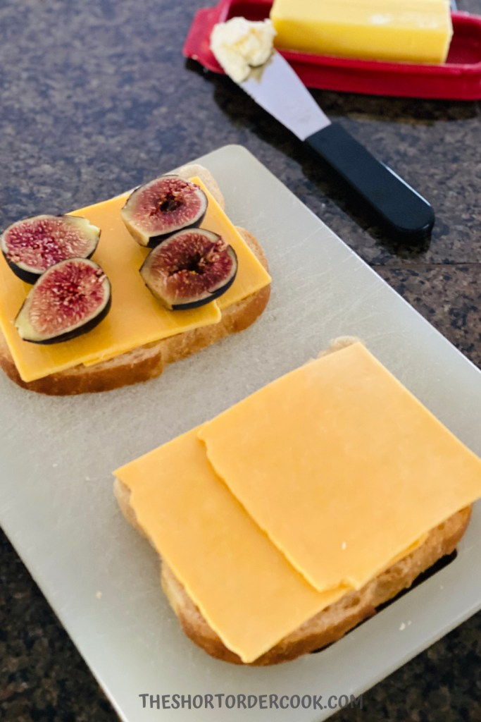 assemble Grilled Cheese with Figs and Hot Honey