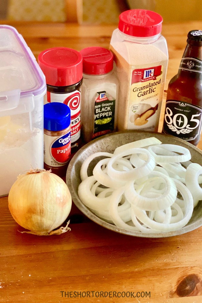 Homemade Beer-Battered Onion Rings Ingredients