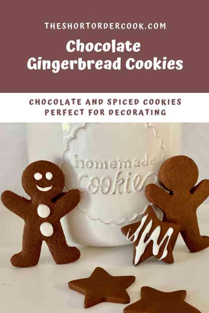 Chocolate Gingerbread Cookies PIN