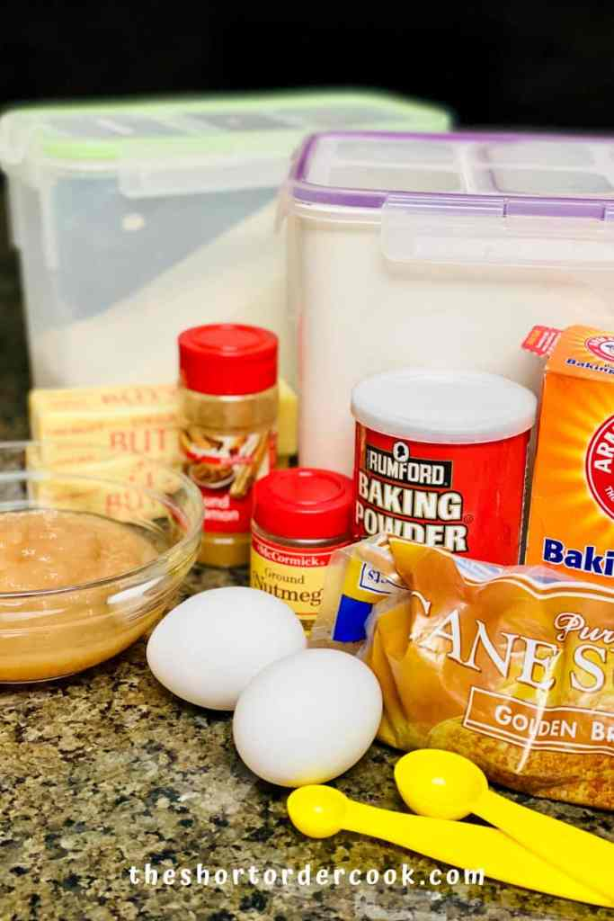 ingredients for easy applesauce muffins