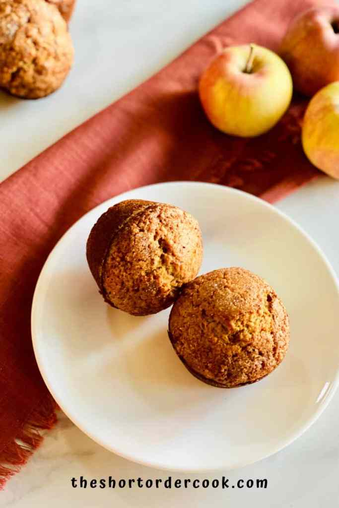 Easy Applesauce Muffins overhead
