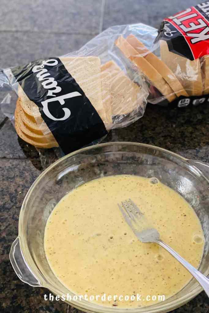 Keto Monte Cristo Sandwich egg dip