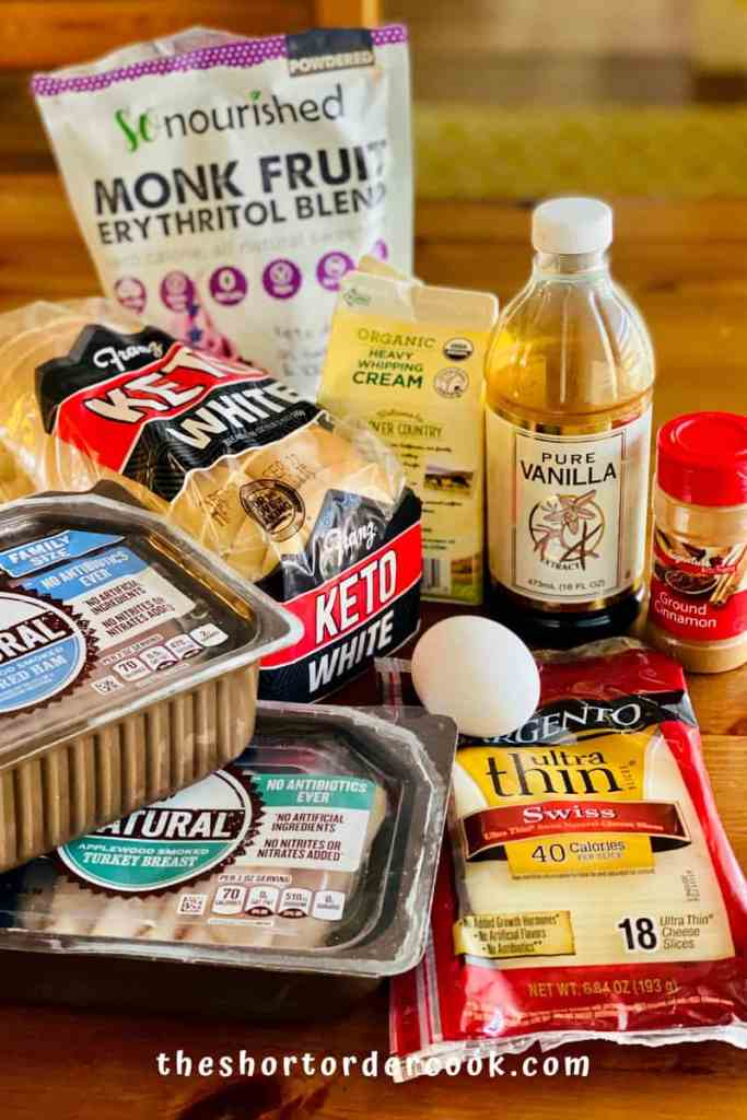 Keto Monte Cristo Sandwich ingredients
