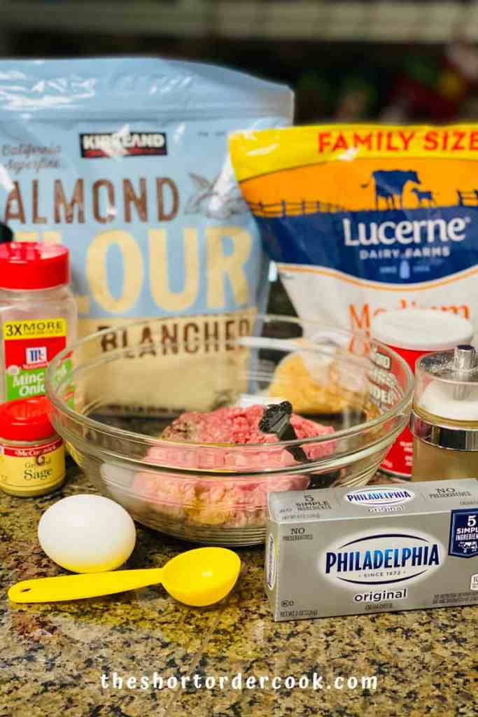 Homemade Low-Carb Sausage Balls ingredients