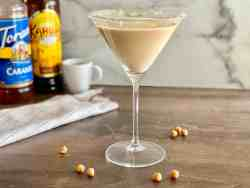 Salted Caramel Espresso Martini featured on table