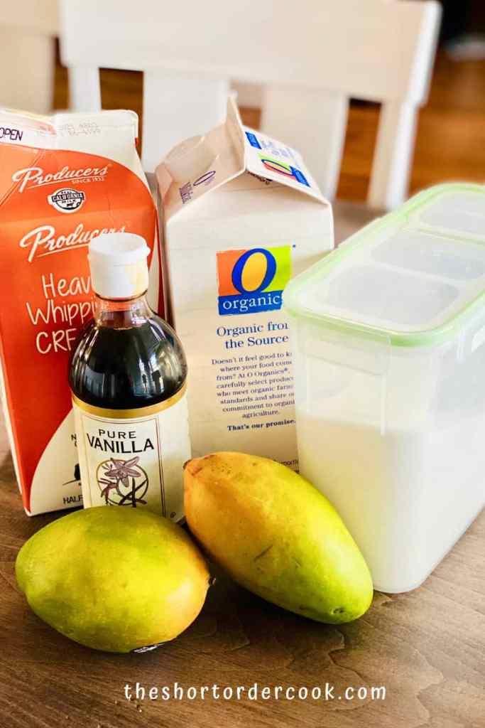Best Ever Mango Ice Cream ingredients