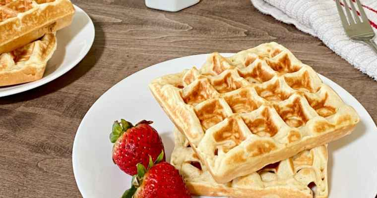 Perfectly Crispy and Chewy Mochi Waffles