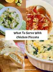 What to Serve with Chicken Piccata 4 different side dish images