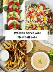 What To Serve With Meatball Subs PIN recipe card