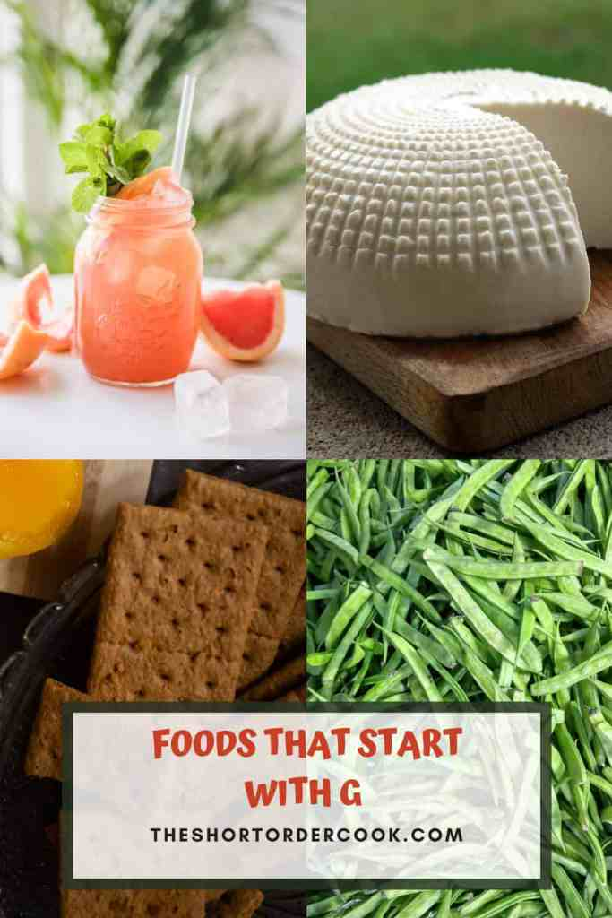 FOODS THAT START WITH G PIN for pinterest
