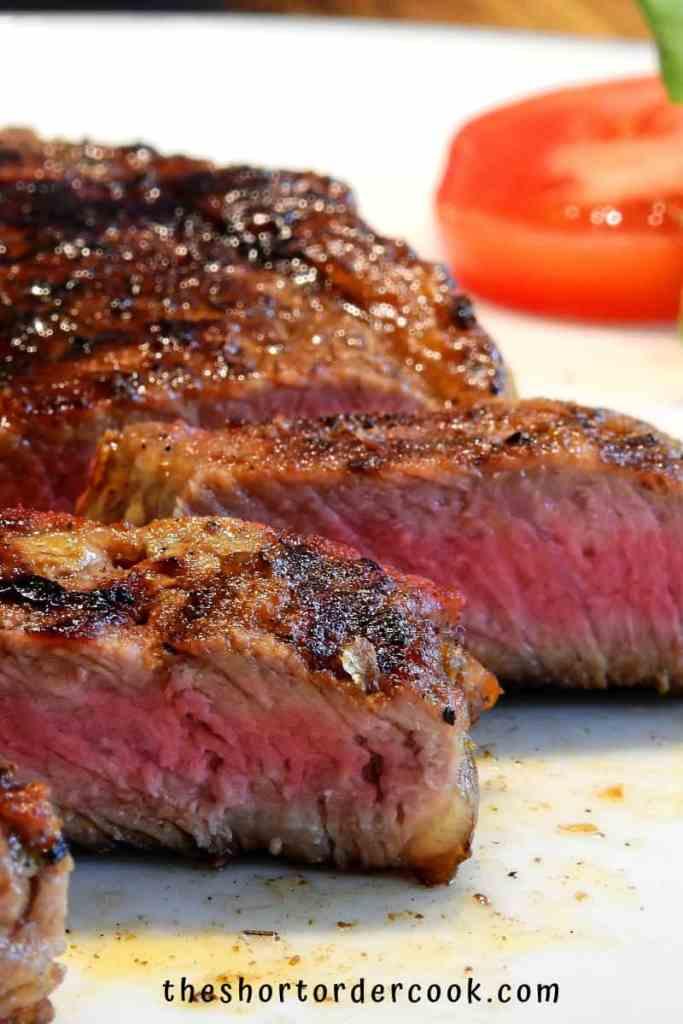 Keto Steak Marinade cut into slices